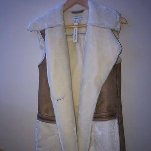 Susan Graver Faux Shearling Vest